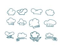 Chef logo classical cook catering vector design. Avatar baker bar breakfast buffet business cap costume culinary diet dinner drawing eatery element epicure stock illustration