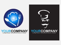 Chef logo design Royalty Free Stock Images