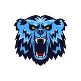 Chef Logo Mascot Emblem d'ours Images libres de droits
