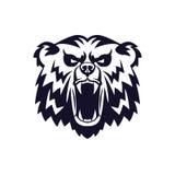 Chef Logo Mascot Emblem d'ours Photos libres de droits