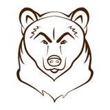 Chef Logo Mascot Emblem d'ours Conçu utilisant le vecteur de graphique d'ensemble Images stock