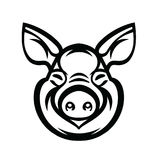 Chef Logo Mascot Emblem de porc Image stock