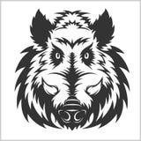 Chef Logo Mascot Emblem de sanglier Photos stock