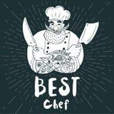 Chef logo menu set Royalty Free Stock Photography