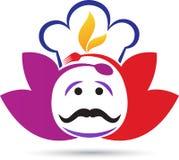 Chef logo. A vector drawing represents chef logo design royalty free illustration