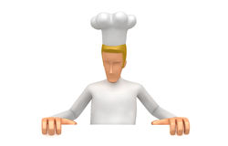 Chef looking at a blank board below Royalty Free Stock Photography