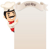 Chef Looking at Blank Menu Royalty Free Stock Photos