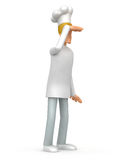 Chef looks into the distance. Illustration of an abstract character on a white background for use in presentations, etc Royalty Free Stock Photo