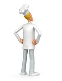 Chef looks into the distance. Illustration of an abstract character on a white background for use in presentations, etc Stock Photo