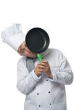 Chef looks out for pans Stock Photography