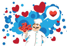 Chef in Love Royalty Free Stock Photos