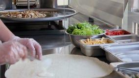 Chef makes Shawarma stock video footage