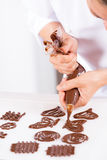 Chef making figures Royalty Free Stock Images