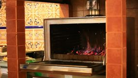 Chef is making flambe and fire. HD. 1920x1080 stock video footage