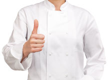 Chef making hand sign OK Royalty Free Stock Photos