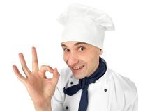 Chef making ok sign Stock Photo