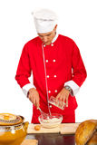 Chef making pizza dough Royalty Free Stock Photo