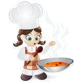 Chef making soup Stock Photography