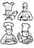 Chef man and baker Stock Image