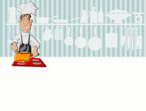 Chef man cooking Stock Photography