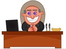 Chef- Man Greedy With-Geldogen vector illustratie