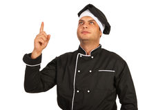 Chef man indicate up Stock Images