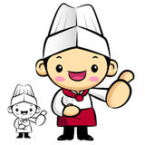 Chef Mascot the hand best gesture. Work and Job Character Design Stock Images