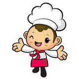 The Chef mascot has been welcomed with both hands. Work and Job Royalty Free Stock Photography