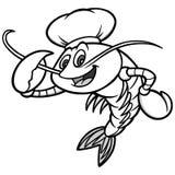 Chef Mascot Illustration d'écrevisses Image stock
