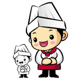 Chef Mascot is a polite greeting. Work and Job Character Design Royalty Free Stock Photography