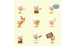 Chef Mascot Set 2 vektor abbildung