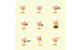 Chef Mascot Set 1 Photo libre de droits