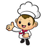 Chef mascot Suggests the direction. Work and Job Character Desig Royalty Free Stock Images