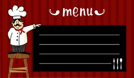 Chef and daily menu Royalty Free Stock Photos