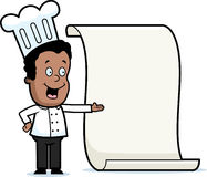 Chef Menu Stock Image
