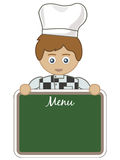 Chef with menu Royalty Free Stock Image