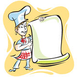 Chef Menu Stock Images