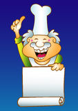 Chef menu. Master chef character for board menu restaurant Royalty Free Stock Photos