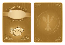Chef menu cover or board - vector Royalty Free Stock Photos