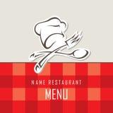 Chef menu design Royalty Free Stock Photo