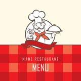 Chef menu design Royalty Free Stock Image