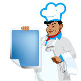 Chef and  menu food Stock Photos