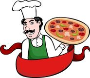Chef menu pizza Royalty Free Stock Images