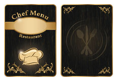 Chef menu restaurant cover or board - vector 2 Stock Photo