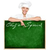 Chef Menu Sign Royalty Free Stock Photo