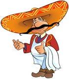 Chef mexicain avec le pouce vers le haut. Photo libre de droits