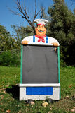 Chef mit Menübrett Stockbilder