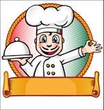 Chef mit Teller Lizenzfreie Stockfotos
