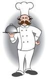 Chef mit umfaßter Mahlzeit Lizenzfreies Stockbild