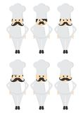Chef Mustache guy avatar portrait picture icon Stock Photos